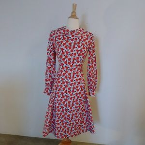 Vintage red white and blue dress